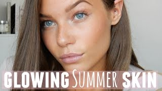 HOW TO Get Glowing Summer Skin // Holly Kitney