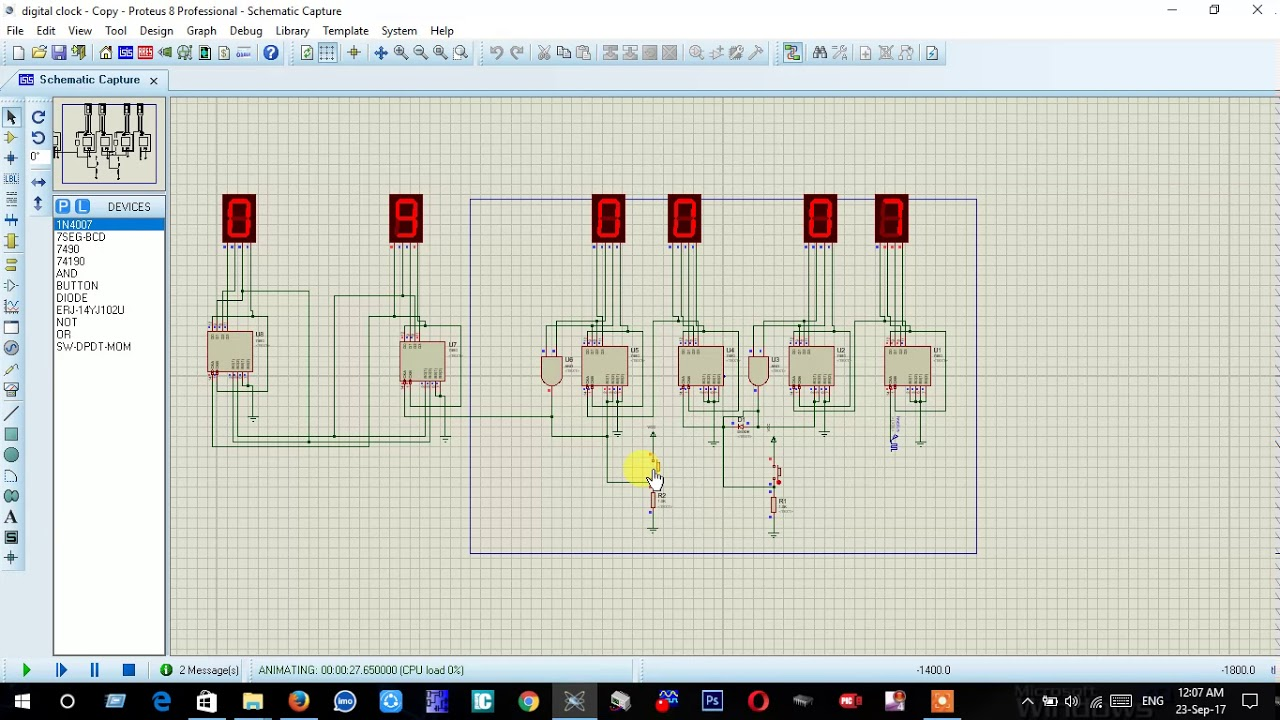 small resolution of how to make a digital clock with 7490 ic