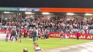 Sfeer na afloop van de wedstrijd Almere City - NEC