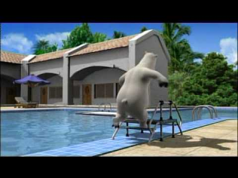 El oso Berni - Salto de trampolin