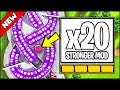 *WORLD RECORD* x20 POWER TACK!! THE x20 TIER MOD IS HERE | Bloons TD Battles Hack/Mod (BTD Battles)