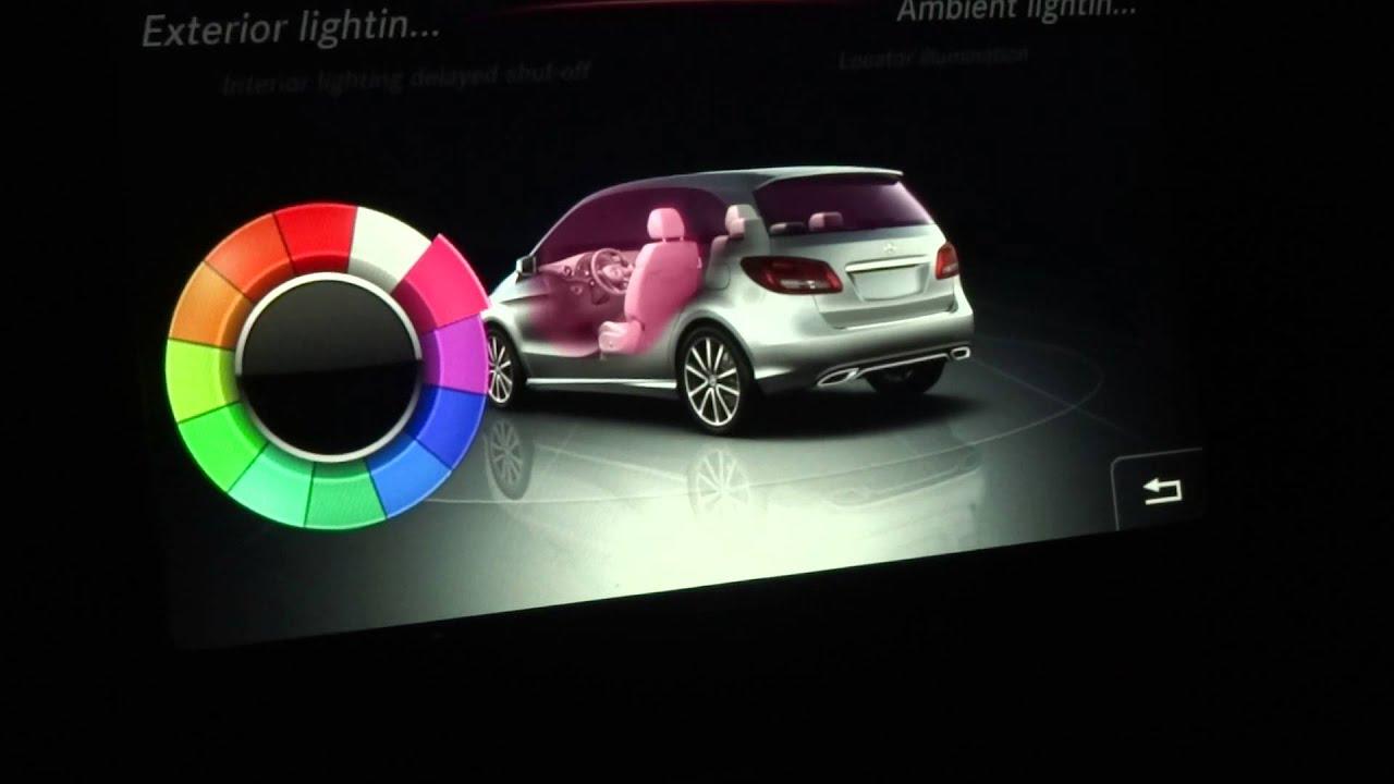 2015 mercedes benz b class tail lights ambient lighting for Mercedes benz lighting