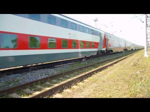 Russian Railways Double-Deck Far Passenger Train