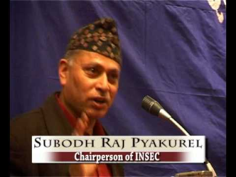 Speech of Subodh Raj Pyakurel on the occasion of Nepal Human Rights Yearbook 2009 Release Programme