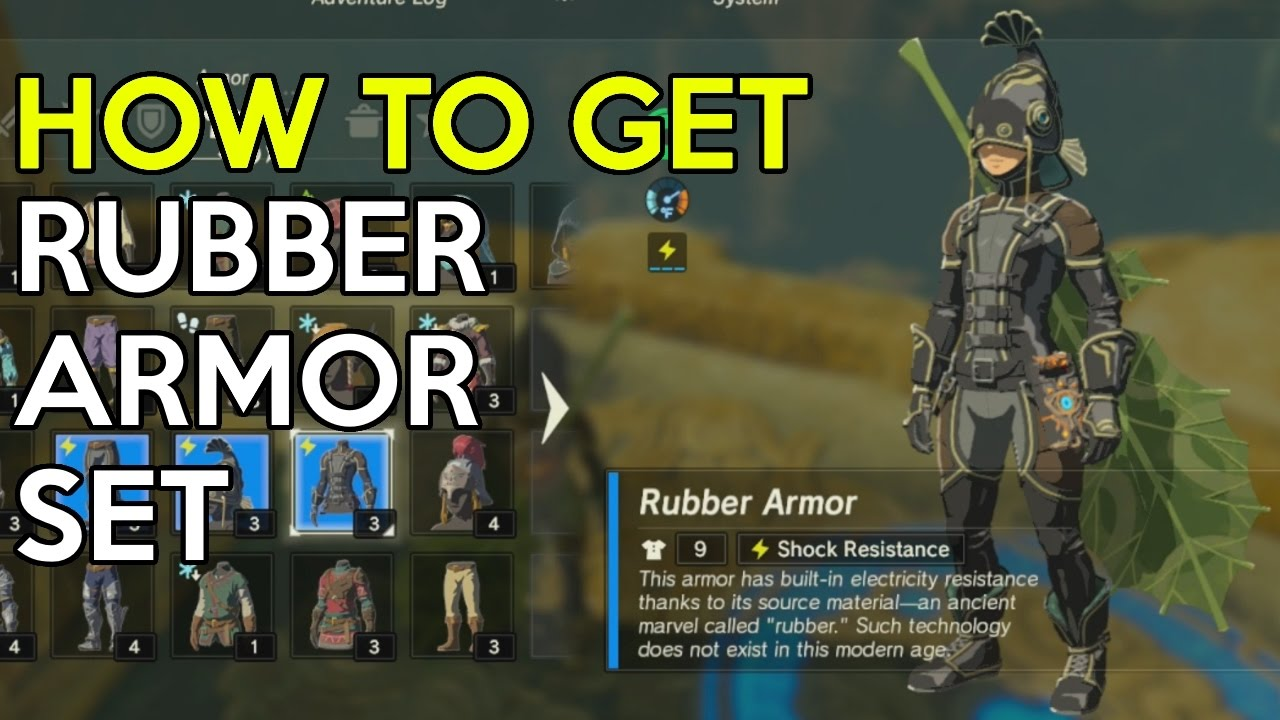 How To Get Rubber Armor Set Trial Of Thunder Shrine Quest
