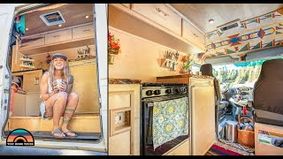 Her DIY Camper Van - Leaving Everything To Live Fulltime On The Road