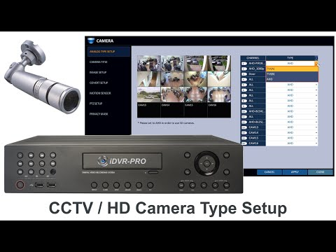 CCTV Camera / HD Security Camera Setup for iDVR-PRO Surveillance DVRs