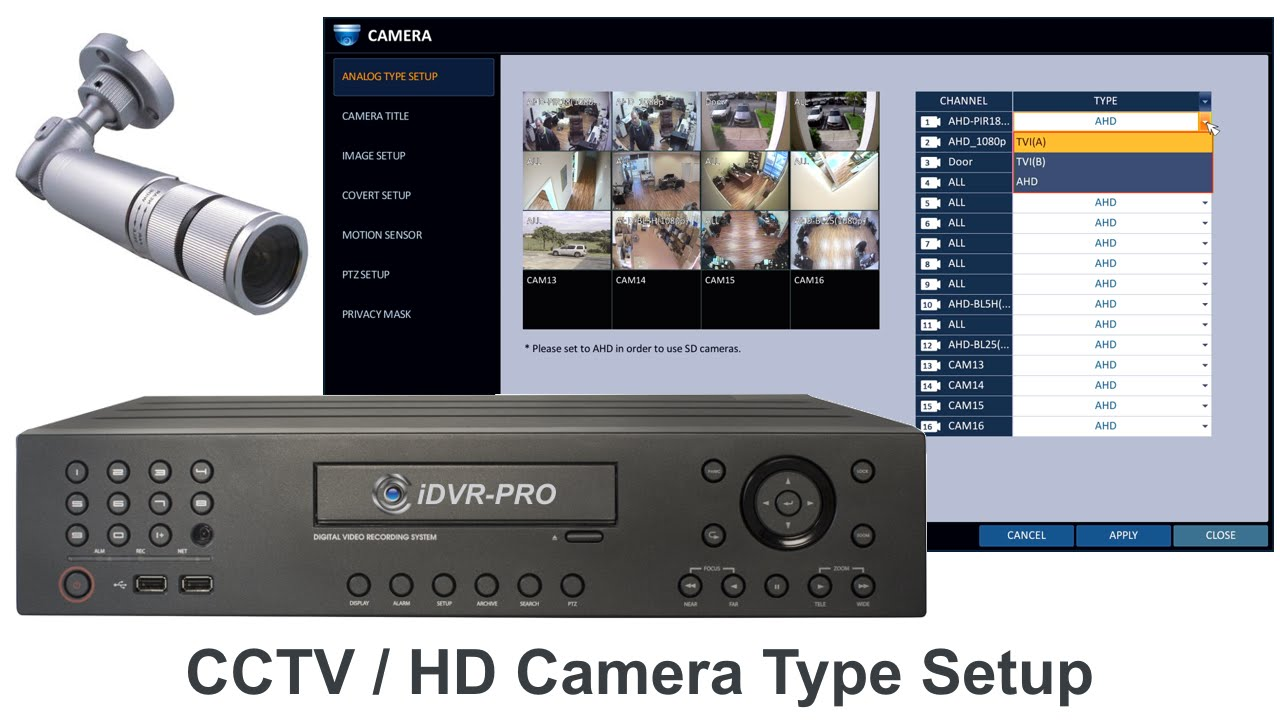 Cctv Camera Hd Security Camera Setup For Idvr Pro