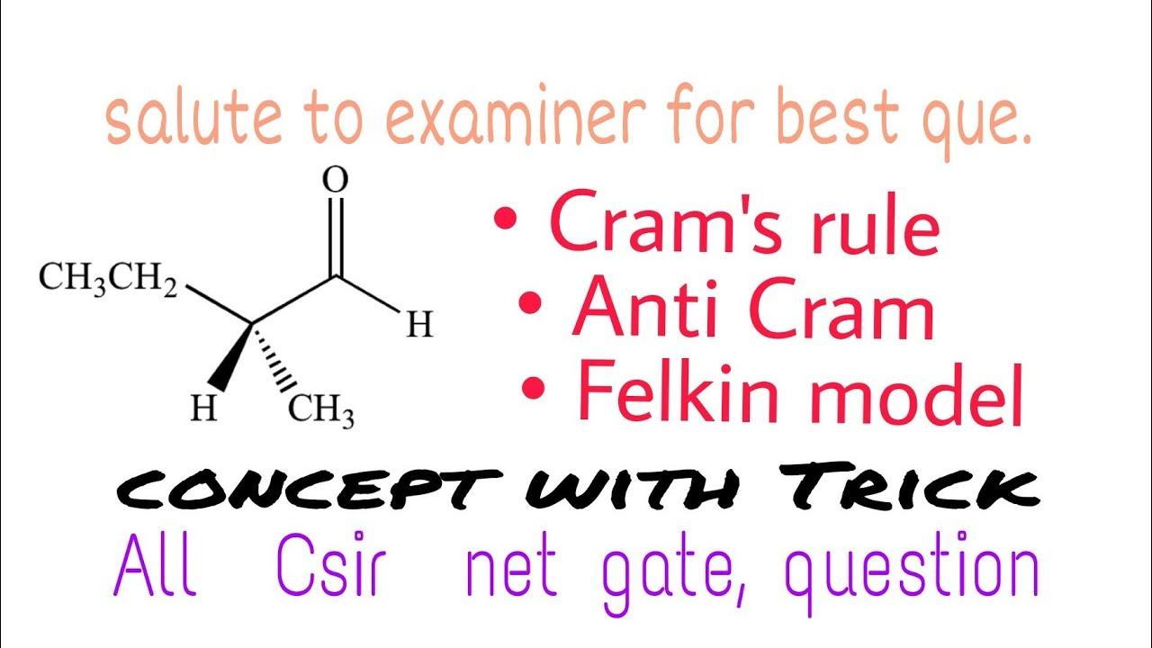 TRiCK , Cram\u0027s Rule, Felkin Anh model ,Csir net and gate chemistry