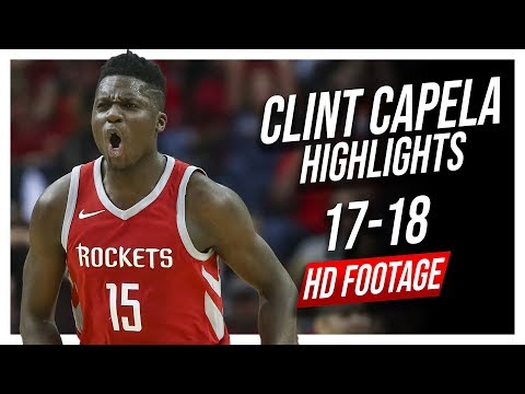 Rockets C Clint Capela 2017-2018 Season Highlights ᴴᴰ