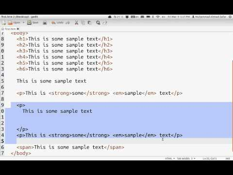 HTML: Common Tags
