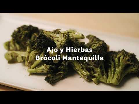 Thumbnail to launch Garlic & Herb Buttered Broccoli Spanish video