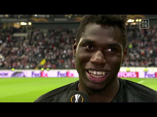 Danny da Costa im DAZN Interview nach Frankfurt vs Benfica Lissabon