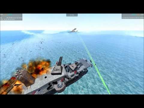 From The Depths Tournament Battleship Brawl S3E04 BB 64 Wisconsin vs Crummy Crams