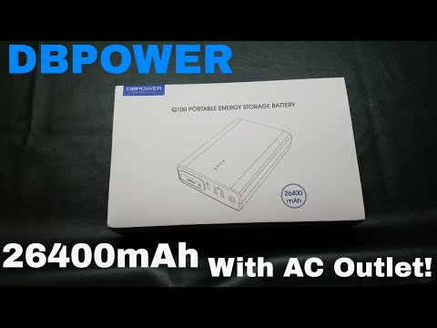 DBPOWER Power Bank With AC Outlet (26,400mAh)