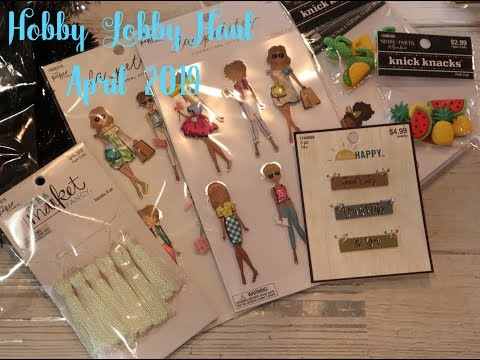 Hobby Lobby Haul   Paper Studio 50% off   4 24 19