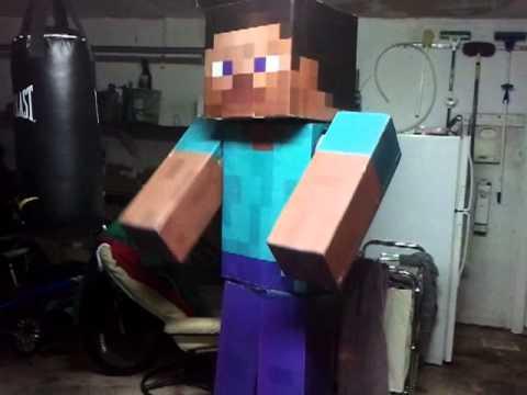 Minecraft Costume Test & Minecraft Costume Test - YouTube