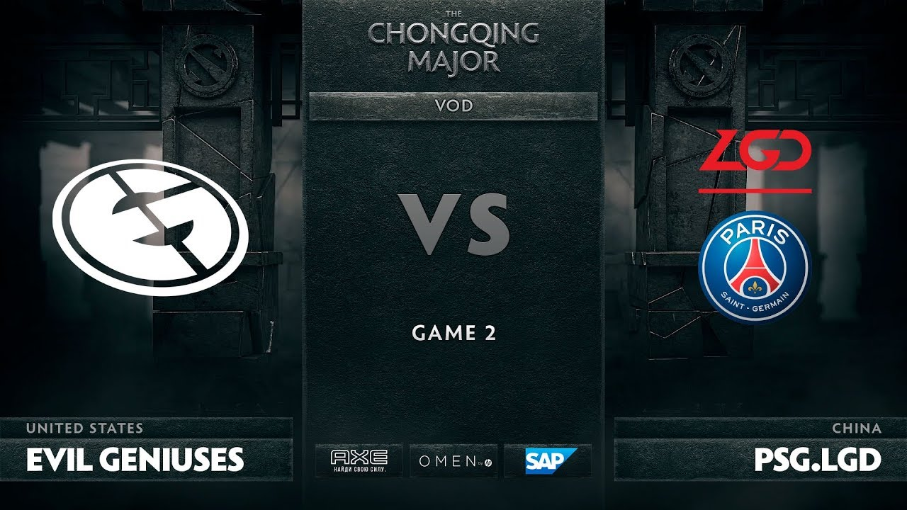 [RU] Evil Geniuses vs PSG.LGD, Game 2, The Chongqing Major LB Round 5