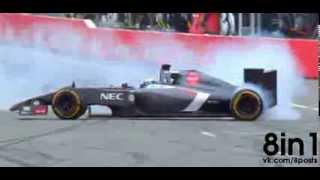 Подборка   Аварии катастрофы и лучшие моменты Формулы 1 2014
