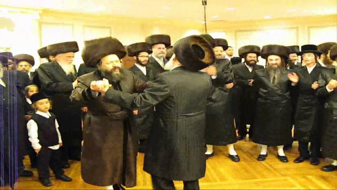 Bobov, Klausenburg Rebbes at Mitzvah Tanz