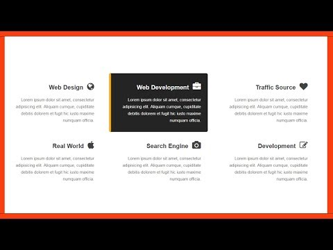 Services Section For Websit Design- Css 3 & Html 5
