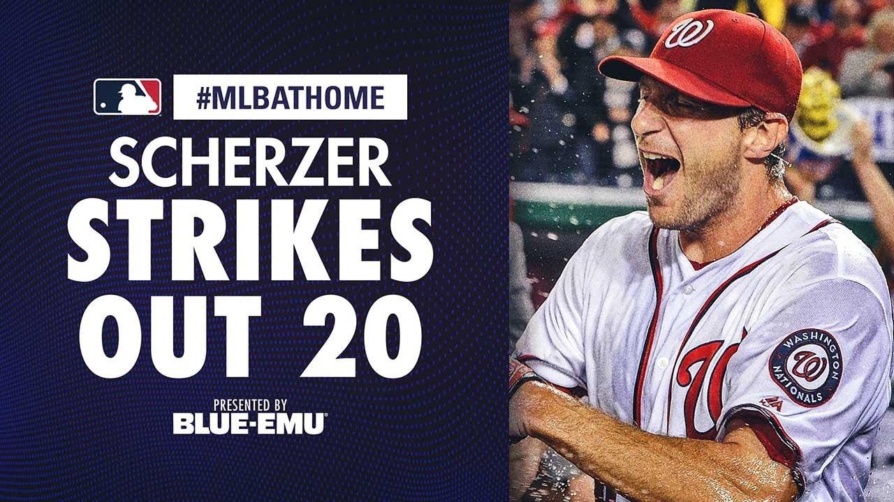 Tigers vs. Nationals (5/11/16): Max Scherzer ties MLB K record! | #MLBAtHome