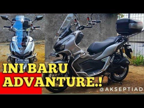 REVIEW HONDA ADV 150 MODIFIKASI TURING VELG JARI JARI CRASH BAR TOP BOX. INI BARU REAL ADVANTURE.