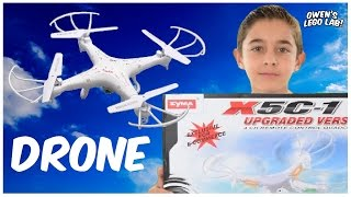 Kid Review - Syma X5C-1 Drone Demo: 8 Year Old Kid's Perspective