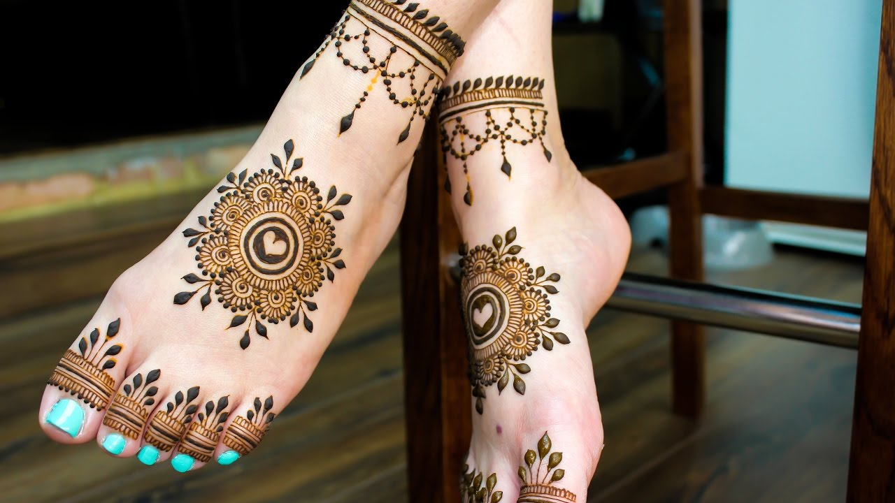 Bridal Mehndi On Foot : Feet henna pattern for beach or bridal mandala mehandi designs