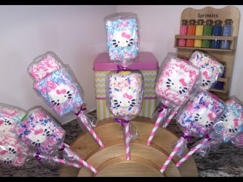 Hello Kitty Rice Krispie Treats How To Youtube