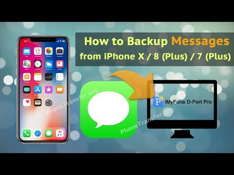 How to Backup Messages on iPhone X and iPhone 8 (Plus)