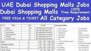 Uae Dubai Shopping Malls Jobs L Dubai Shopping Malls All Category Jobs Lshopping Mall Jobs In Dubai