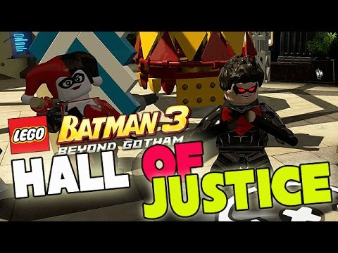 Hall of Justice [FREE PLAY] LEGO Batman 3: Beyond Gotham (Gameplay, Commentary)