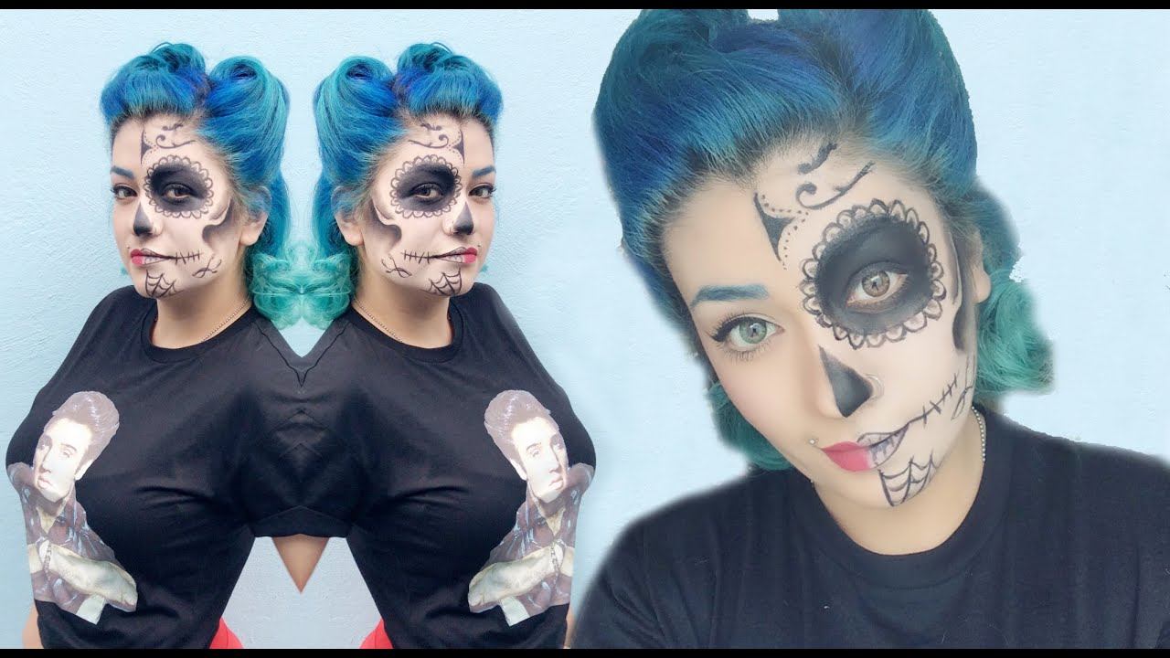 catrina pin up maquillaje sugar skull nya rawr youtube. Black Bedroom Furniture Sets. Home Design Ideas