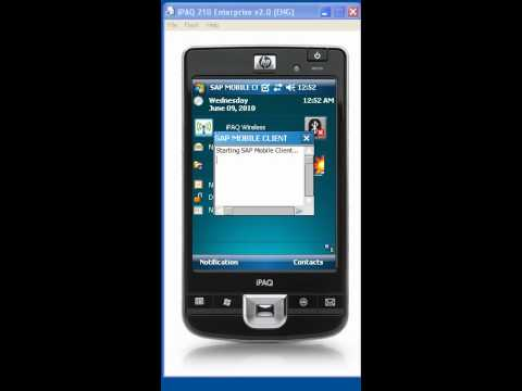 SAP Mobile on HP iPAQ