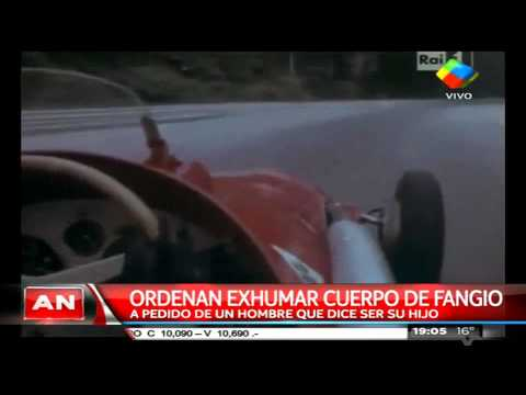 Exhumarán cuerpo de Fangio a pedido de un hombre que dice ser su hijo