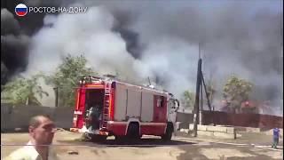Квартал горит в Ростове-на-Дону