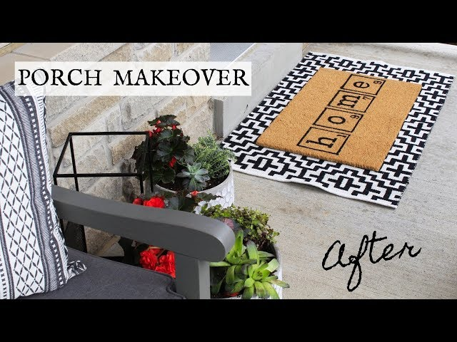 PORCH MAKEOVER PT 2 | REVEAL | Nesting Story