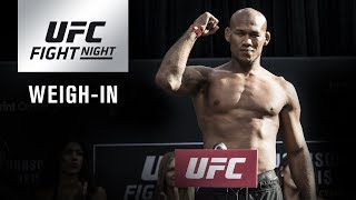 UFC Fight Night Charlotte: Official Weigh-in Video and Results