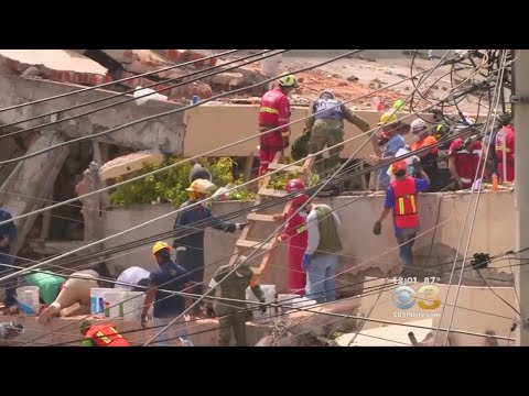 Search Underway To Save Little Girl Buried Under Concrete Of Collapsed Mexico School Building
