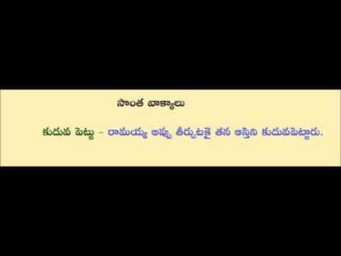 Telugu grammar - Telugu Literature - sontha vakyalu