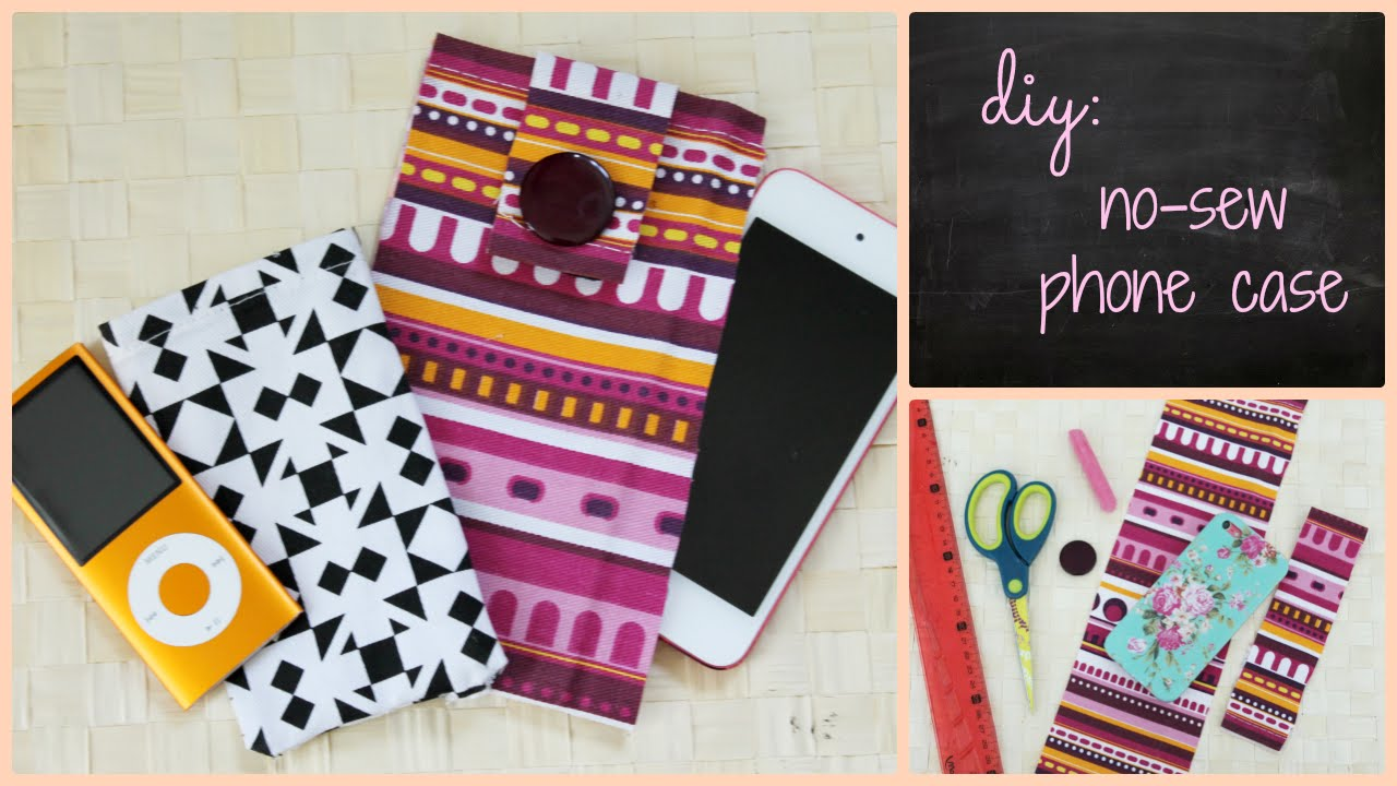 Diy no sew phone case youtube for How to make a homemade phone case