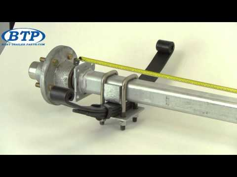 How to Measure Your Boat Trailer Axle?