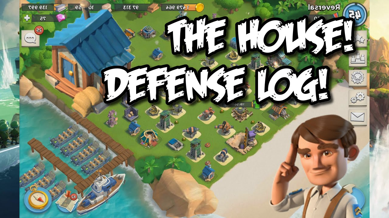 "boom beach - hq 16 base layout ""the house"" defensive log"