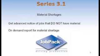 JobPack Production Scheduling - Material Shortage