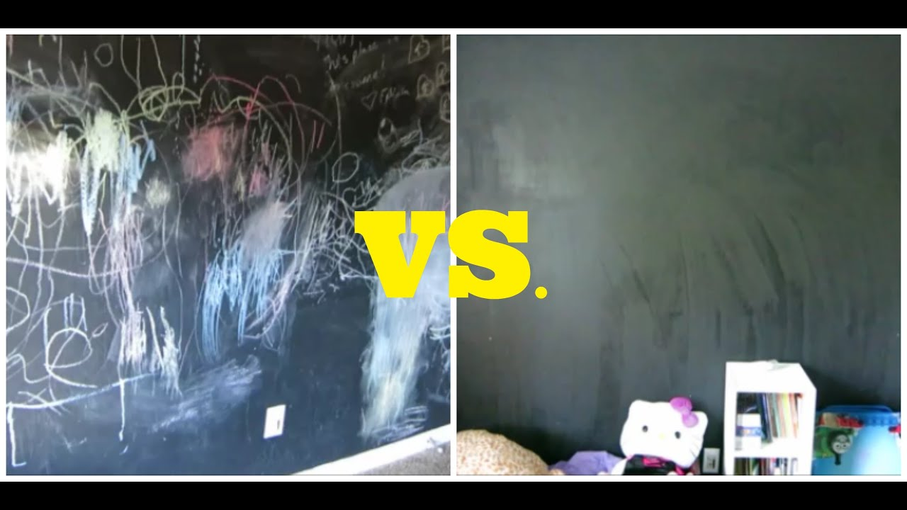 how to clean a chalkboard wall using coca cola youtube. Black Bedroom Furniture Sets. Home Design Ideas