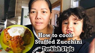COOKING WITH MY DAUGHTER #HOW TO COOK STUFFED ZUCCHINI#KABAK DOLMASI