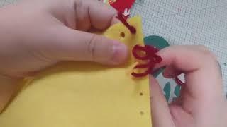 중국지도 가방 만들기