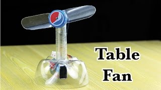 How to make a Table Fan Totally Made with Plastic Bottle - Easy Life Hacks