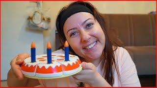 AHŞAP OYUNCAK YAŞ PASTAMIZI BULDUK l Wooden Birthday Pie For Kids